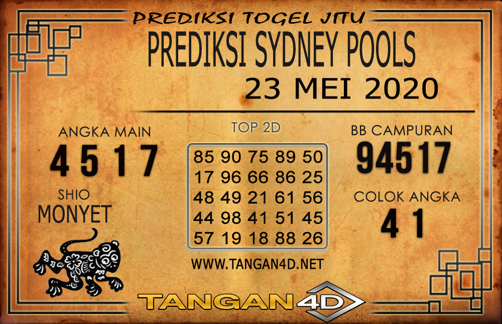 PREDIKSI TOGEL SYDNEY TANGAN4D 23 MEI 2020