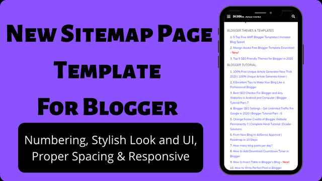 New Sitemap Page Template For Blogger