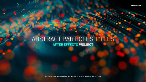 Abstract Particles Titles 31275716 - Project for After Effects (Videohive)