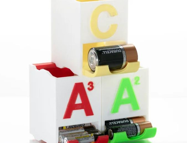 Stackable Battery Holders - Cool Things to 3D Print
