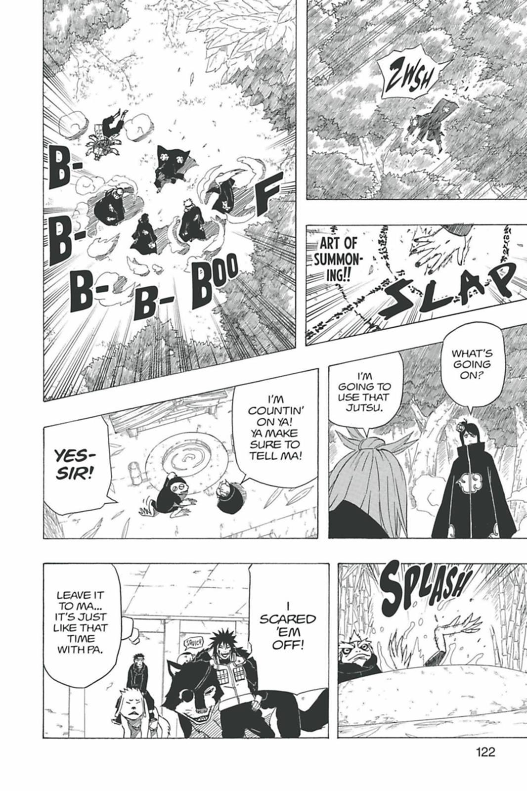 O péssimo desempenho de Pain contra Naruto 0429-007