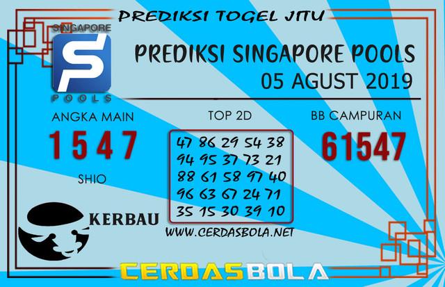 "Prediksi Togel ""SINGAPORE"" CERDASBOLA 05 AGUST 2019"