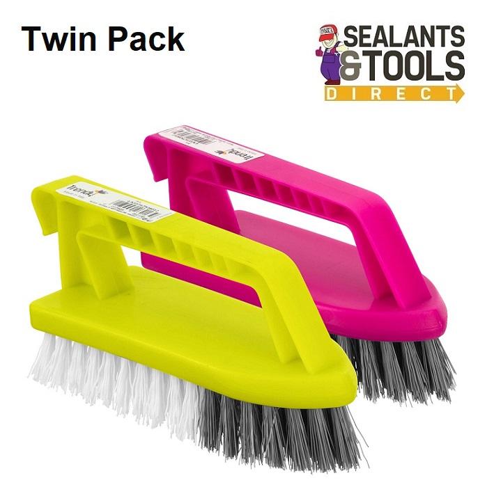 Trendy Easy Grip Nylon Scrubbing Brush NSST675 - Twin pack