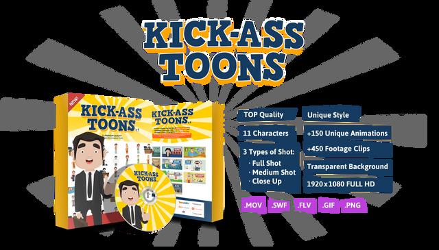 Kick-Ass Toons V1