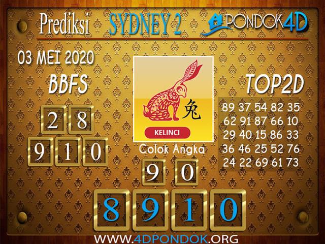 Prediksi Togel SYDNEY 2 PONDOK4D 03 MEI 2020