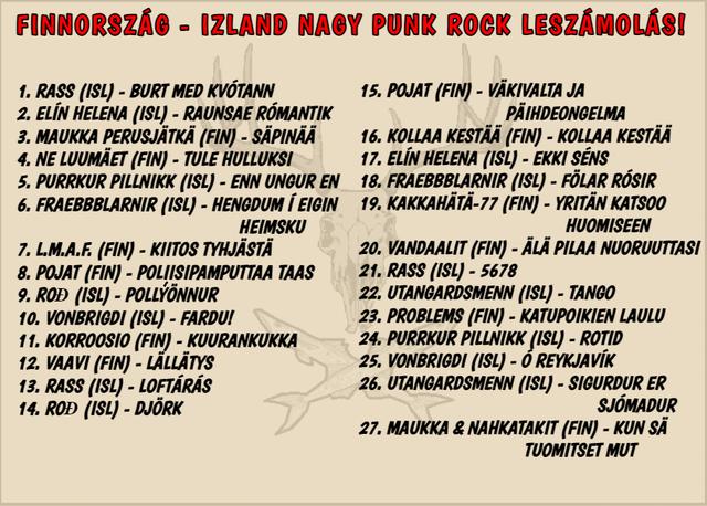 Suomi-vs-sland-Tracklist