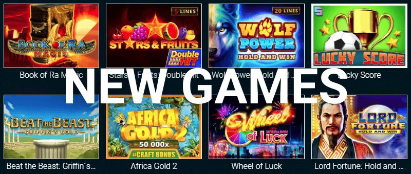 новые игровые автоматы в казино