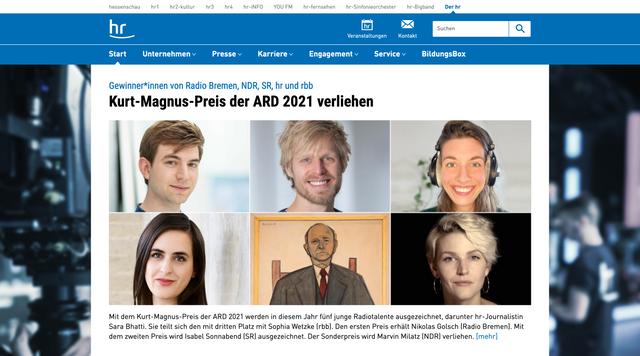 Webseite hr.de