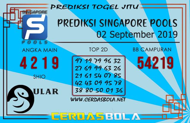 "Prediksi Togel ""SINGAPORE"" CERDASBOLA 02 SEPTEMBER 2019"