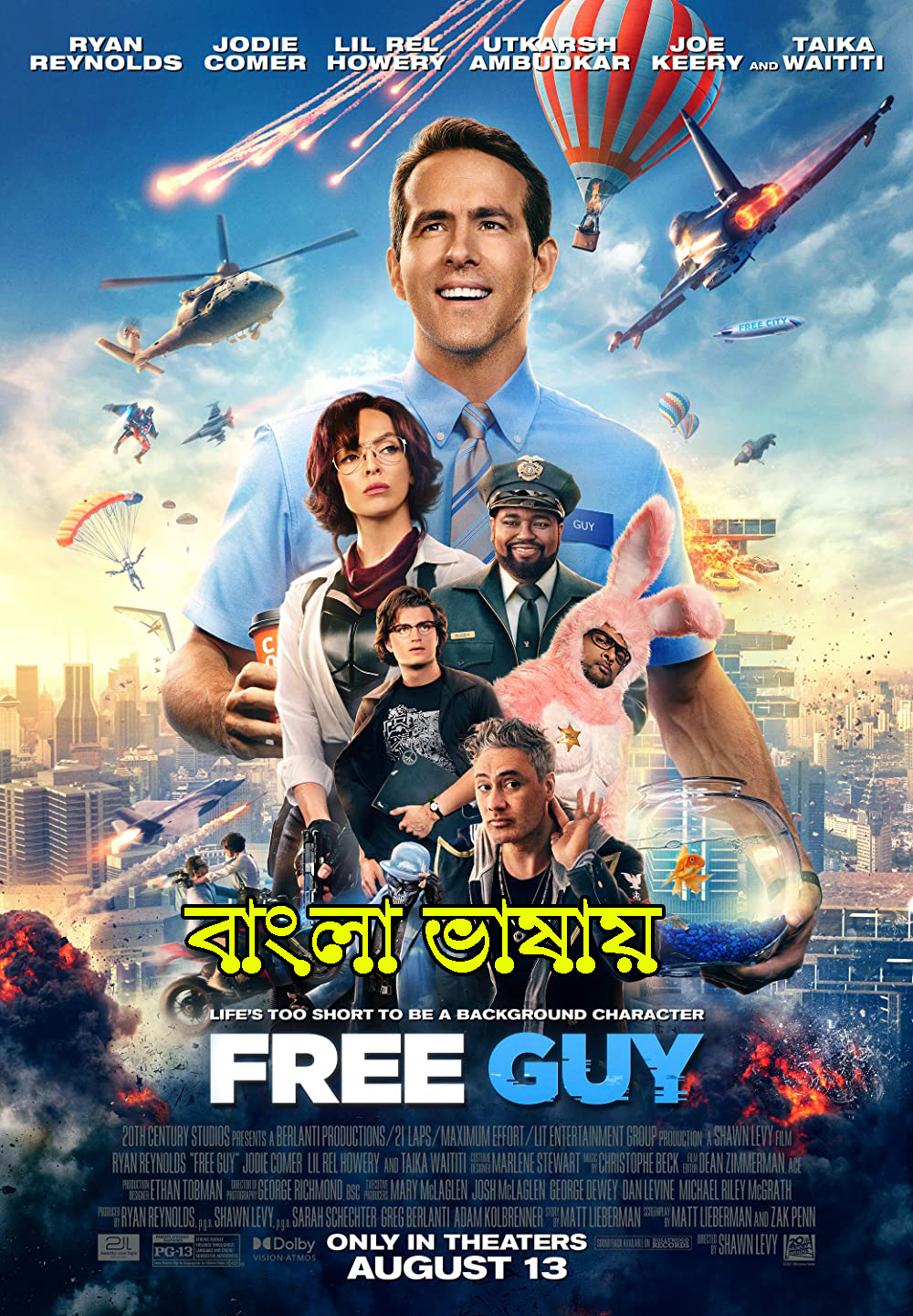 Free Guy (2021) Bengali Dubbed ORG 720p HDRip 850MB Download