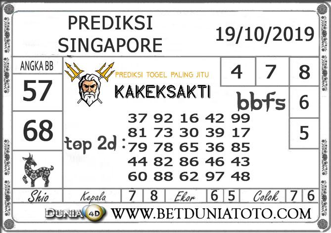 """Prediksi Togel """"SINGAPORE"""" DUNIA4D 19 OKTOBER 2019"""