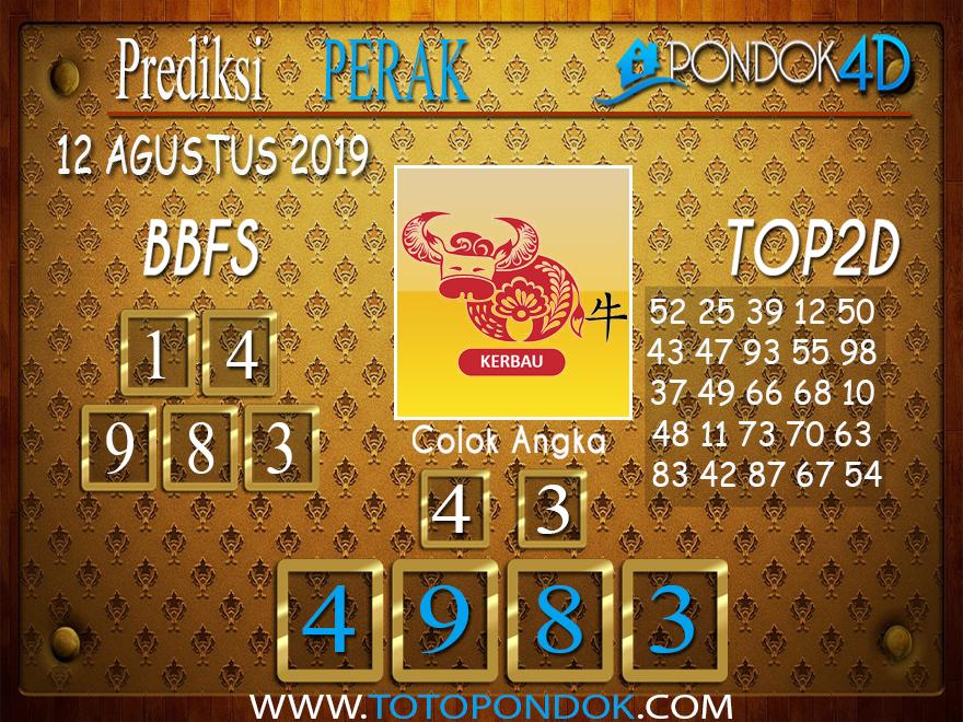 Prediksi Togel PERAK POOLS PONDOK4D 12 AGUSTUS 2019
