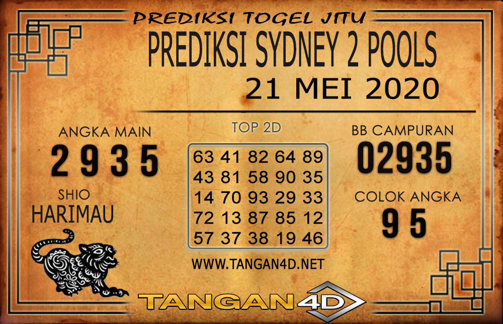 PREDIKSI TOGEL SYDNEY 2 TANGAN4D 21 MEI 2020