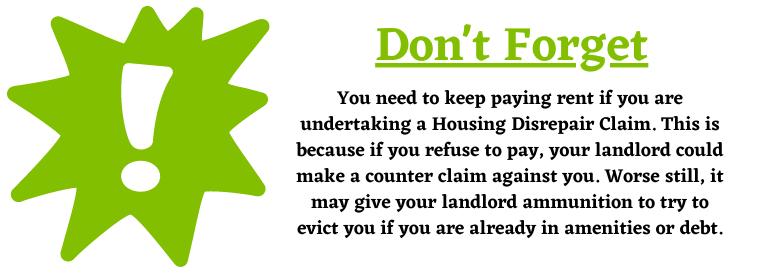 Housing Disrepair Claim CounterClaims