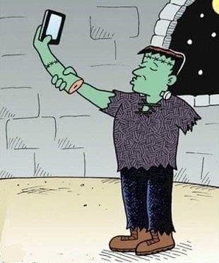 halloween-ugh-selfie-obsessed-you-too-frankenstein