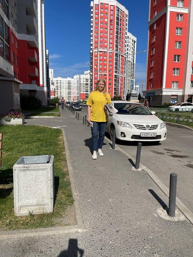 Кандидат Анастасия Павлюченкова сегодня гуляет по Академическому!