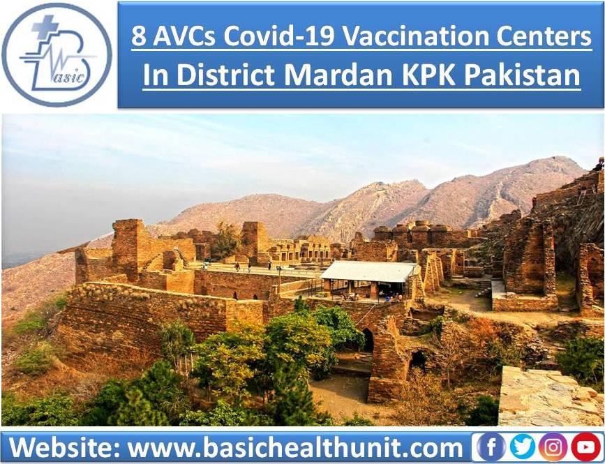 8 AVCs Covid-19 Vaccination Centers In District Mardan KPK Pakistan