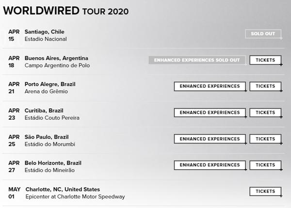 'Cancelamento'? Datas de shows do Metallica no Brasil são apagadas em página oficial da banda 3