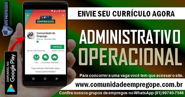 ESTÁGIO ADMINISTRATIVO/ OPERACIONAL PARA PRESTADORA DE SERVIÇOS