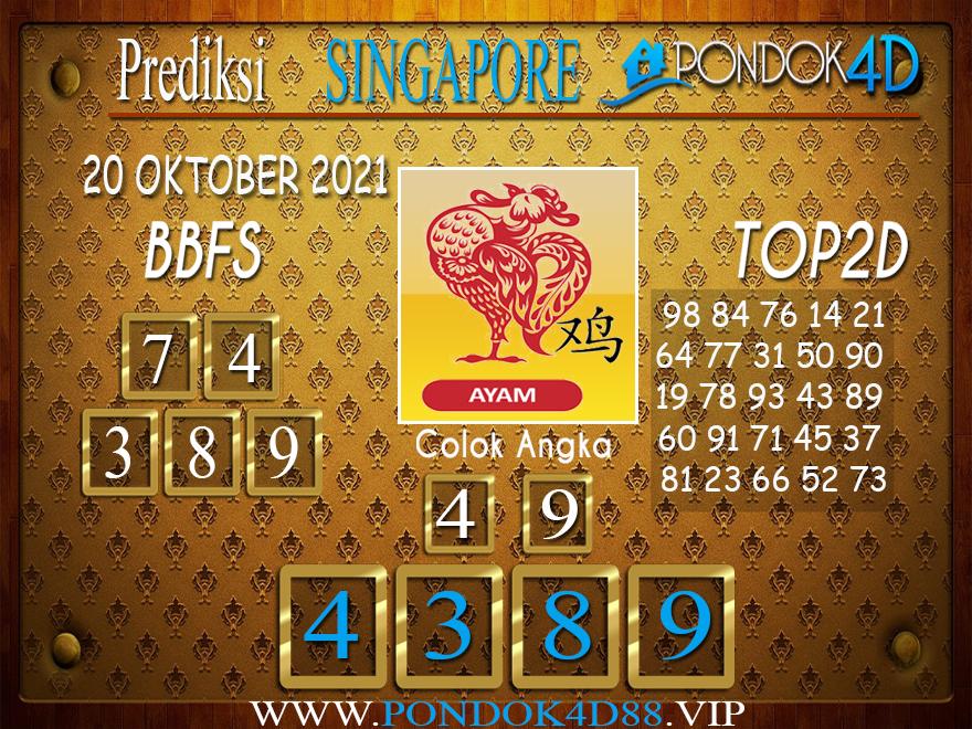 Prediksi Togel SINGAPORE PONDOK4D 20 OKTOBER 2021