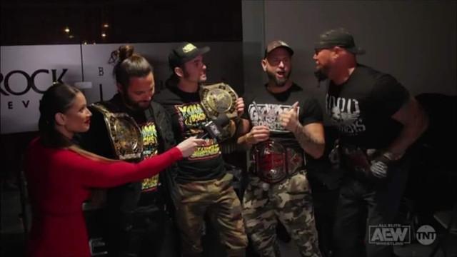 Young Bucks Doc Gallows y Karl Anderson AEW 10 Febrero