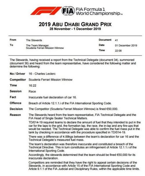 F1 GP d'Abu Dhabi 2019 : Lewis Hamilton termine la saison par une victoire 575224424691