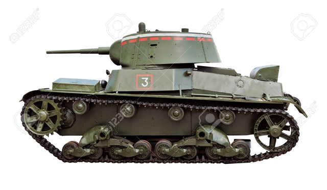 The-T-26-tank-was-a-Soviet-light-infantry-tank-used-during-many-conflicts-of-the-1930s-as-well-as-du