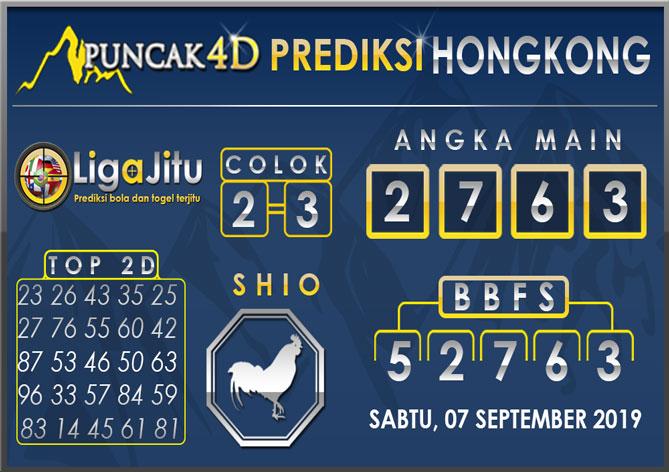 PREDIKSI TOGEL HONGKONG PUNCAK4D 07 SEPTEMBER 2019