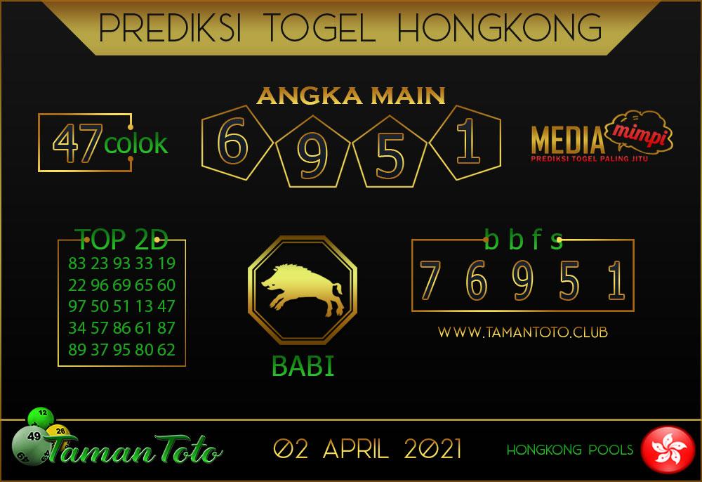 Prediksi Togel HONGKONG TAMAN TOTO 02 APRIL 2021