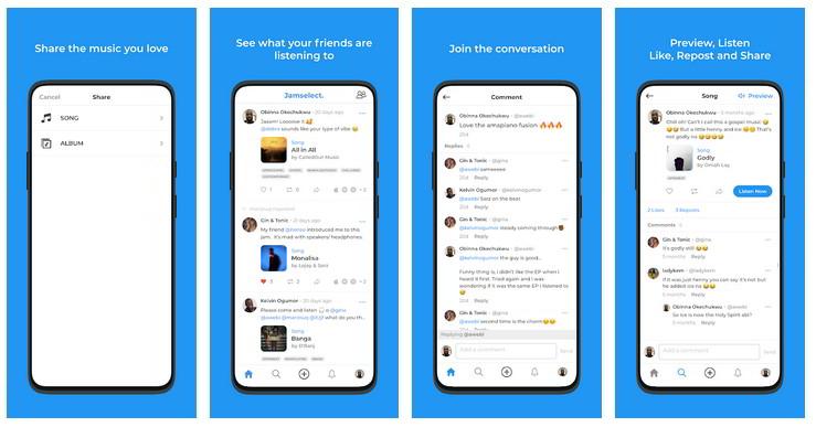 Jamselect, App per condividere musica con gli amici