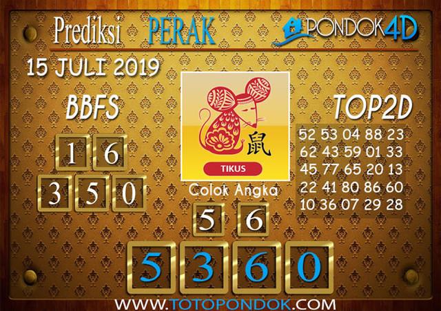 Prediksi Togel PERAK PONDOK4D 15 JULI 2019
