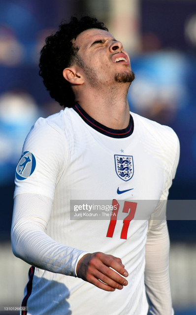 KOPER-SLOVENIA-MARCH-31-Curtis-Jones-of-England-reacts-during-the-2021-UEFA-European-Under-21-Champi