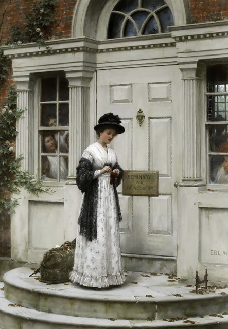 Edmund-Blair-Leighton-The-new-governess-
