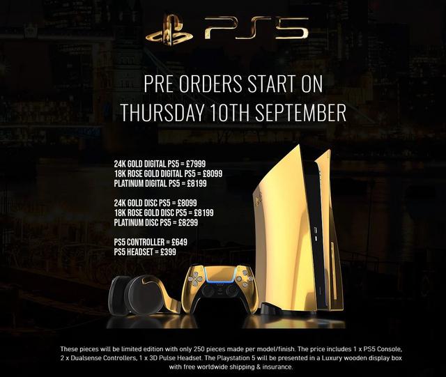 24K金PS5預購即將開啟!Truly Exquisite的超豪華金PS5即將於9月10日開啟預購! Image