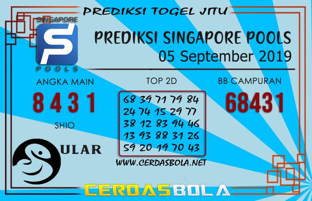 "Prediksi Togel ""SINGAPORE"" CERDASBOLA 05 SEPTEMBER 2019"
