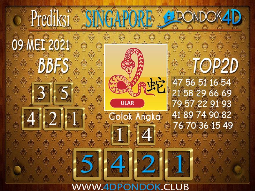 Prediksi Togel SINGAPORE PONDOK4D 09 MEI 2021