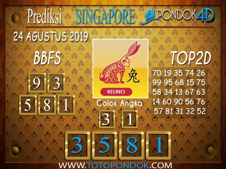 Prediksi Togel SINGAPORE PONDOK4D 24 AGUSTUS 2019