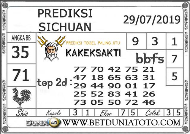 """Prediksi Togel """"SICHUAN"""" DUNIA4D 29 JULI 2019"""