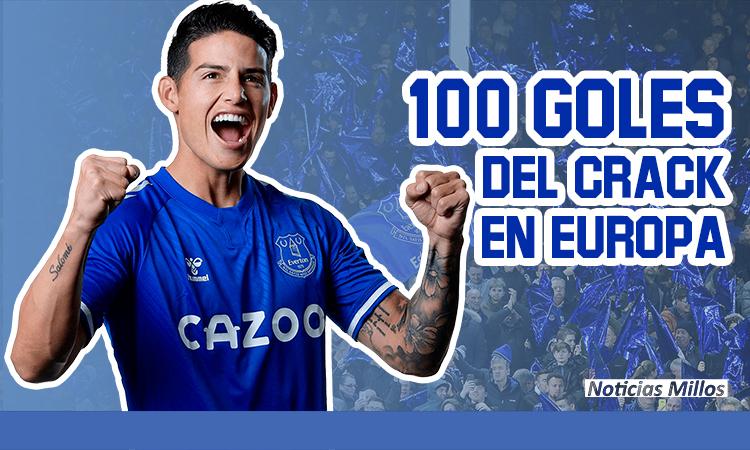 James 100 goles