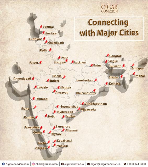 cigar conexion map