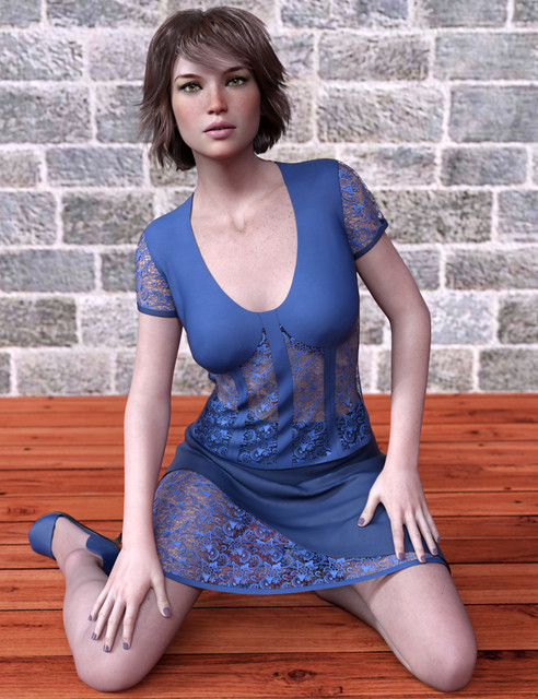 dForce Avant-garde Lace Outfit for Genesis 8 Female(s)