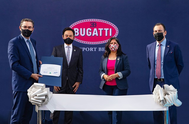 Nouveau showroom Bugatti en Californie du Sud  01-groundbreaking-ceremony