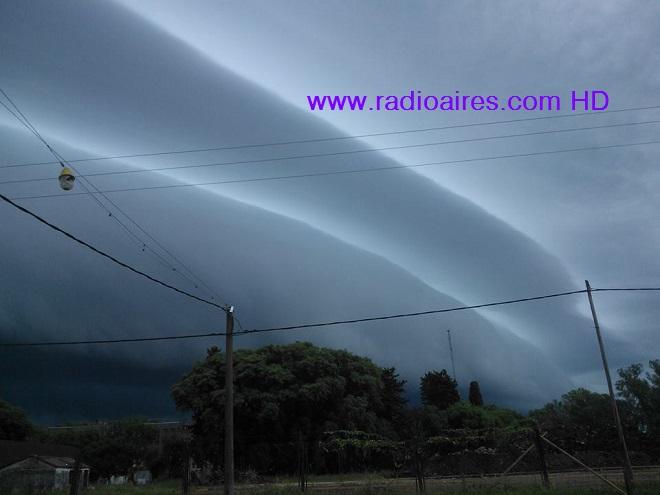 S.M.N: Alerta por tormentas fuertes para una zona de Entre Ríos, llueve en Villaguay