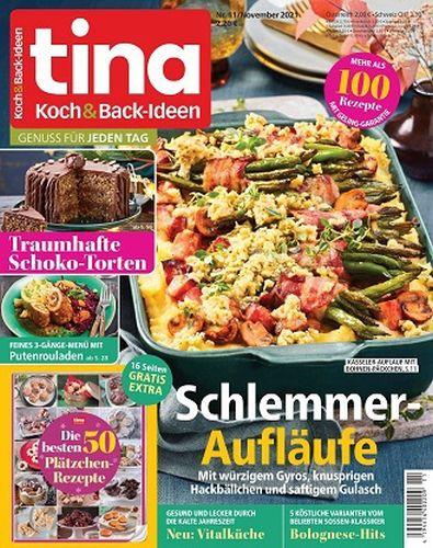 Cover: Tina Koch und Back-Ideen Magazin No 11 November 2021