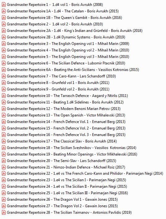 Grandmaster Repertoire series - Page 2 Grandmaster-Repertoire-Listado