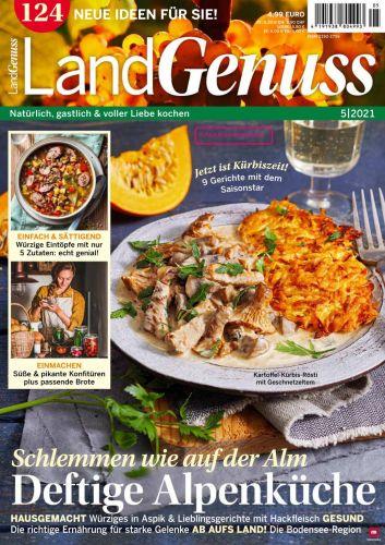 Cover: Landgenuss Die besten Gerichte der Saison Magazin No 05 2021