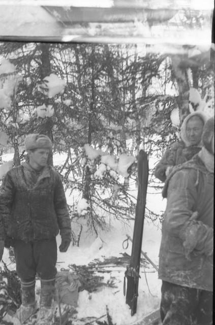 Boris Slobtsov (left) and shaman Stepan Kourikov