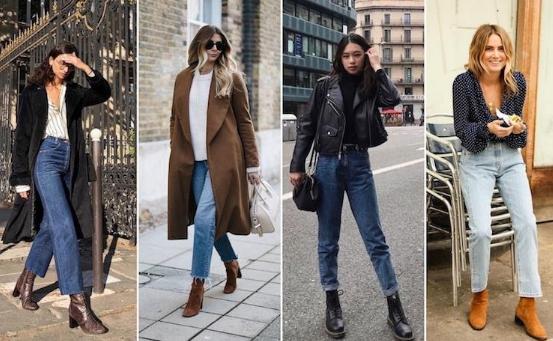 ботинки с широкими джинсами