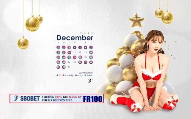 100% ĐĂNG KÝ TẠI SBOBET - NHẬN NGAY 1,000,000VND THÁNG 12/2019 Calendar