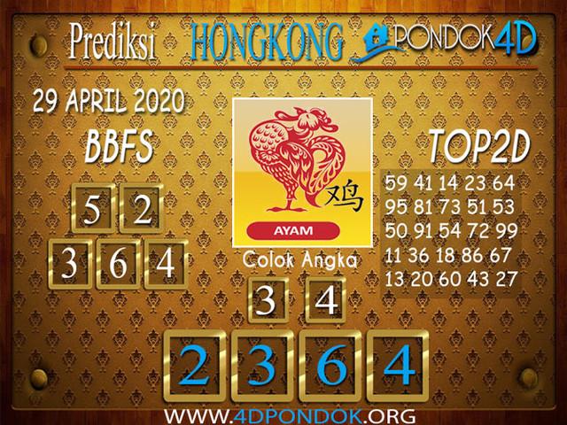 Prediksi Togel HONGKONG PONDOK4D 29 APRIL 2020
